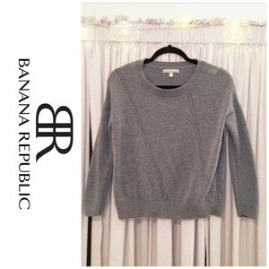 Grey crew/scoop neck sweater